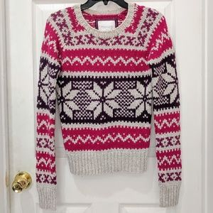 AEO Nordic Fair Isle Angora Blend Sweater